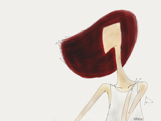 When Her Hair Was Red by Rie Manaloto, Graphic illustration, 2013