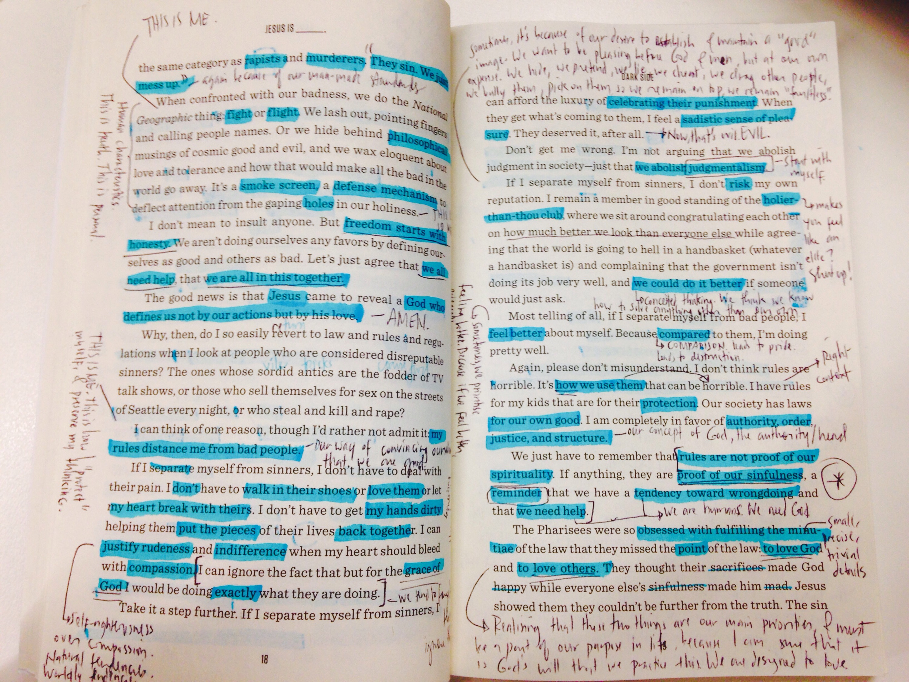 Just highlighting and annotating